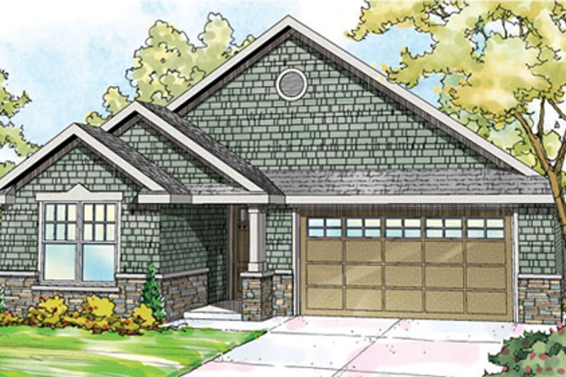 Craftsman Exterior - Front Elevation Plan #124-866