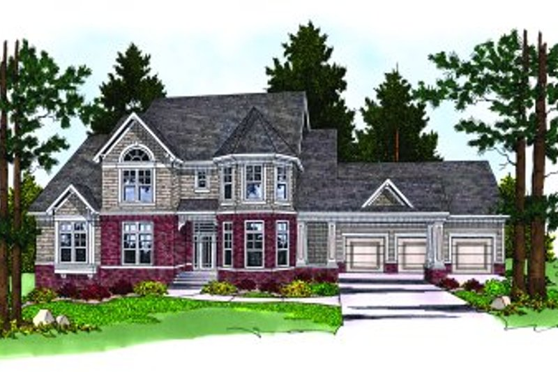 Traditional Exterior - Front Elevation Plan #70-487 - Houseplans.com