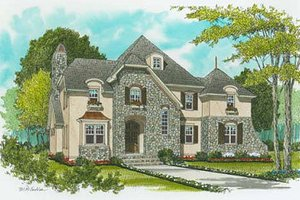 Dream House Plan - European Exterior - Front Elevation Plan #413-108