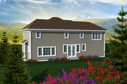 Craftsman Style House Plan - 3 Beds 2.5 Baths 2046 Sq/Ft Plan #70-1132 Exterior - Rear Elevation