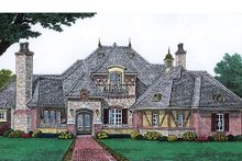 Dream House Plan - European Exterior - Front Elevation Plan #310-683