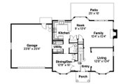 Colonial Style House Plan - 3 Beds 2.5 Baths 2076 Sq/Ft Plan #124-715