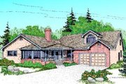 Traditional Style House Plan - 4 Beds 2 Baths 2500 Sq/Ft Plan #60-216 Exterior - Front Elevation