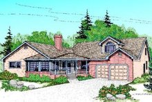 Traditional Exterior - Front Elevation Plan #60-216