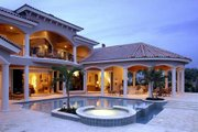 Mediterranean Style House Plan - 5 Beds 5.5 Baths 6780 Sq/Ft Plan #27-216 Exterior - Other Elevation