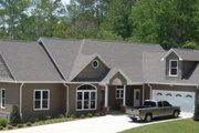 European Style House Plan - 5 Beds 3.5 Baths 3615 Sq/Ft Plan #63-126 Exterior - Front Elevation