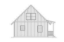 Cottage Exterior - Rear Elevation Plan #57-240