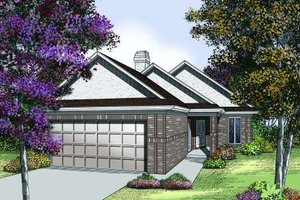 Traditional Exterior - Front Elevation Plan #45-302