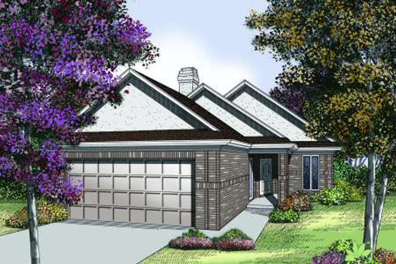 Traditional Style House Plan - 2 Beds 2 Baths 1579 Sq/Ft Plan #45-302 Exterior - Front Elevation