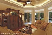 Mediterranean Style House Plan - 4 Beds 3.5 Baths 4759 Sq/Ft Plan #930-42 Interior - Family Room