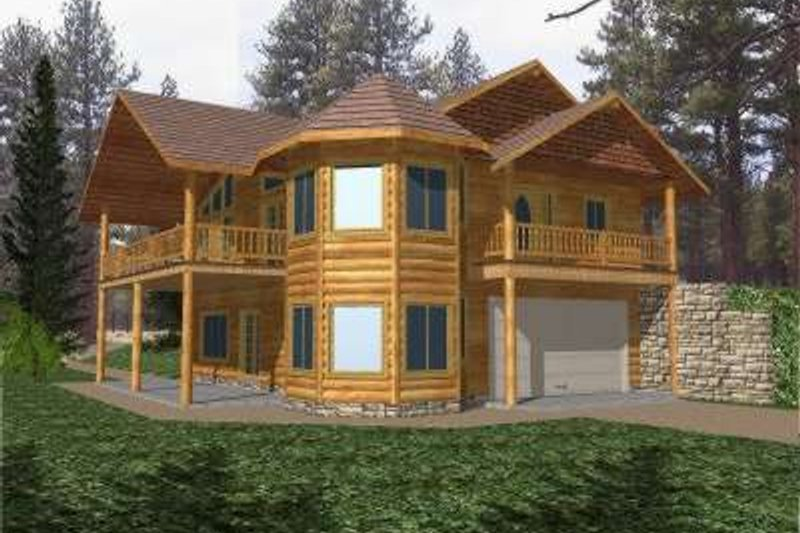 Traditional Exterior - Front Elevation Plan #117-332 - Houseplans.com