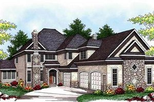European Exterior - Front Elevation Plan #70-938