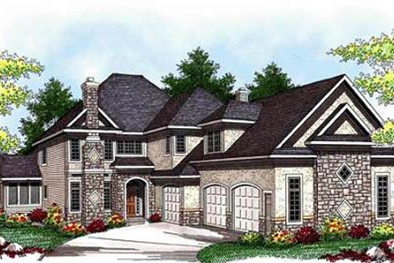 European Exterior - Front Elevation Plan #70-938 - Houseplans.com