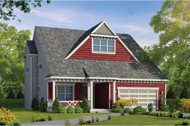 Dream House Plan - Craftsman Exterior - Front Elevation Plan #20-2468