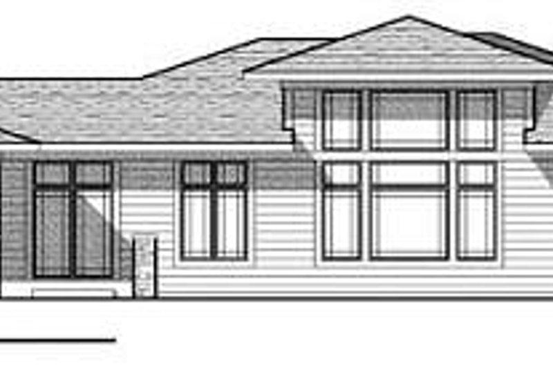 Modern Exterior - Rear Elevation Plan #70-932 - Houseplans.com