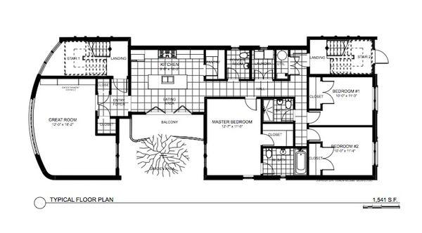 Architectural House Design - Contemporary Floor Plan - Main Floor Plan #535-21