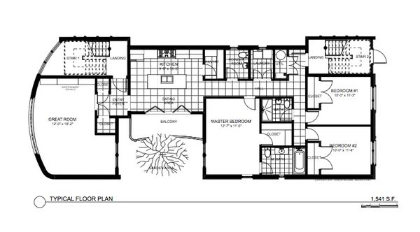 Contemporary Floor Plan - Main Floor Plan Plan #535-21