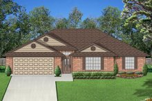 House Design - Ranch Exterior - Front Elevation Plan #84-550
