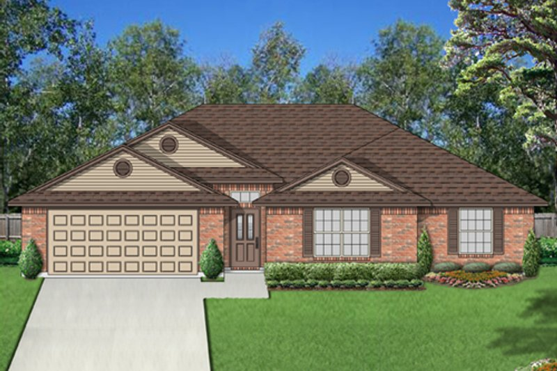 Ranch Exterior - Front Elevation Plan #84-550 - Houseplans.com