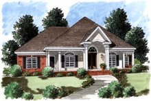 Southern Exterior - Front Elevation Plan #37-194