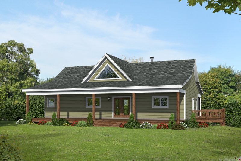 Home Plan - Traditional Exterior - Front Elevation Plan #932-421