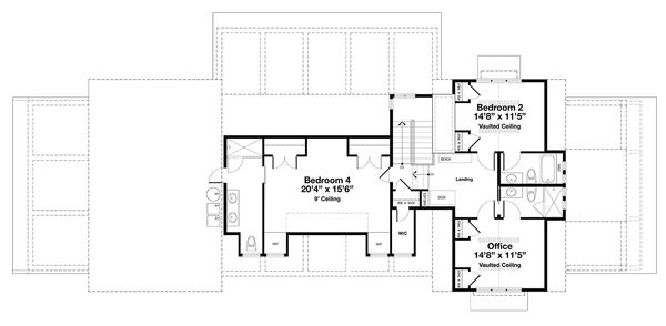 Beach Style House Plan - 4 Beds 4.5 Baths 3000 Sq/Ft Plan #443-19 Floor Plan - Upper Floor Plan