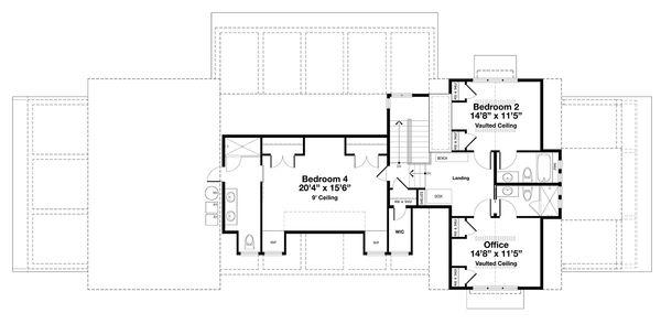 Beach Floor Plan - Upper Floor Plan #443-19