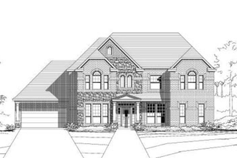 Traditional Style House Plan - 6 Beds 3.5 Baths 4157 Sq/Ft Plan #411-128 Exterior - Front Elevation