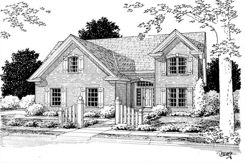 Home Plan - Traditional Exterior - Front Elevation Plan #513-2189