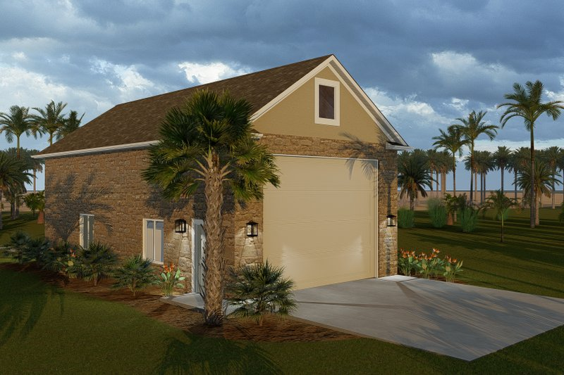 Dream House Plan - Traditional Exterior - Front Elevation Plan #1060-88