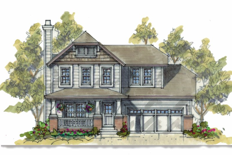 Craftsman Style House Plan - 3 Beds 2.5 Baths 1634 Sq/Ft Plan #20-1217