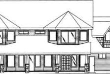 House Design - Traditional Exterior - Rear Elevation Plan #117-340