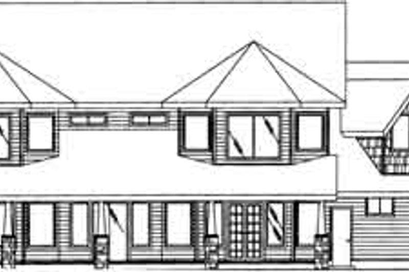 Traditional Exterior - Rear Elevation Plan #117-340 - Houseplans.com