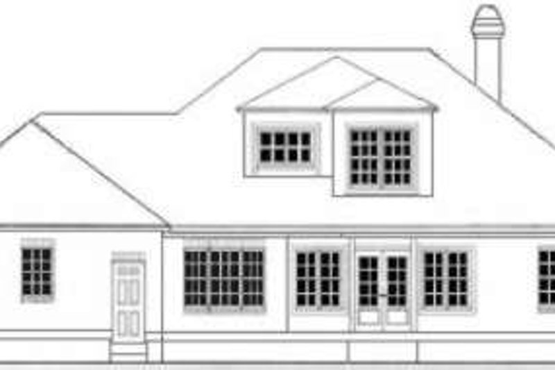 Southern Exterior - Rear Elevation Plan #406-203 - Houseplans.com