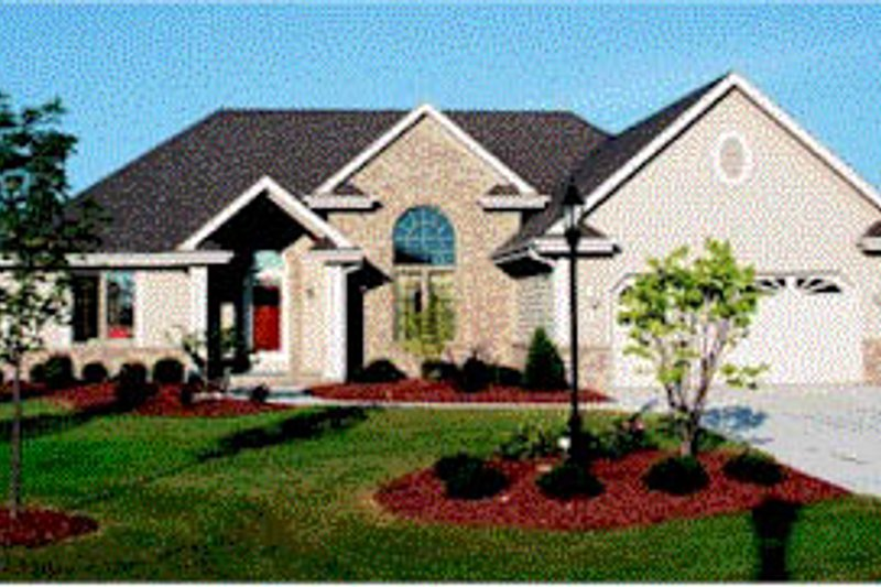Traditional Exterior - Front Elevation Plan #20-615 - Houseplans.com