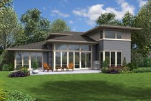 Architectural House Design - Contemporary Exterior - Rear Elevation Plan #48-1005