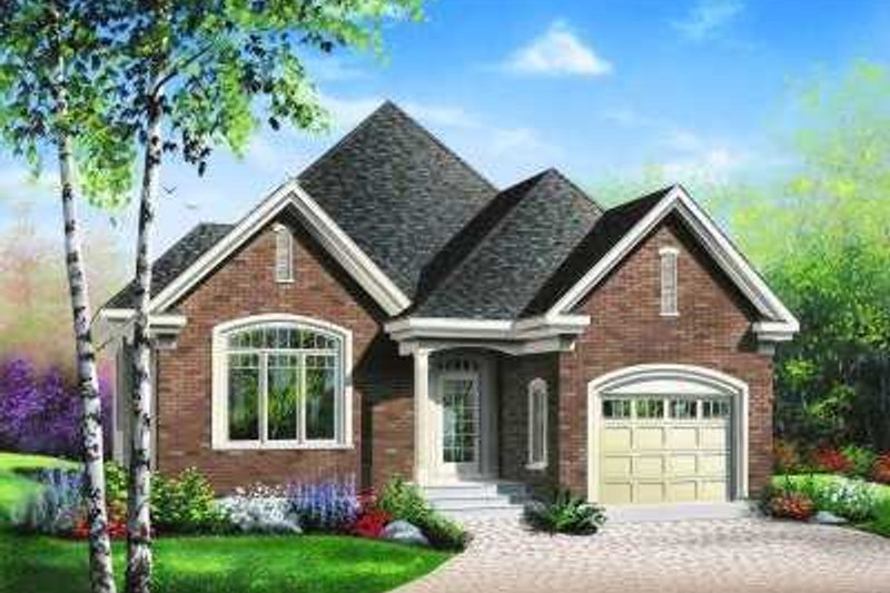 Architectural House Design - European Exterior - Front Elevation Plan #23-346