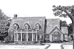 Country Exterior - Front Elevation Plan #310-894