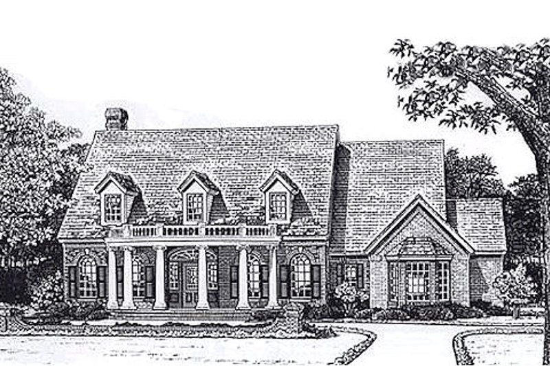 Country Style House Plan - 3 Beds 2.5 Baths 2915 Sq/Ft Plan #310-894 Exterior - Front Elevation