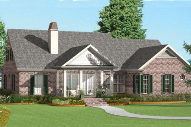 Southern Exterior - Rear Elevation Plan #406-9620 - Houseplans.com
