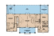 Ranch Style House Plan - 3 Beds 3.5 Baths 3415 Sq/Ft Plan #923-88 Floor Plan - Main Floor