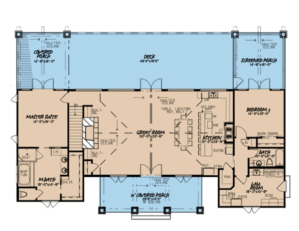 Ranch Floor Plan - Main Floor Plan Plan #923-88