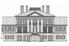 House Plan Design - Classical Exterior - Rear Elevation Plan #137-211