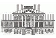 Classical Exterior - Rear Elevation Plan #137-211