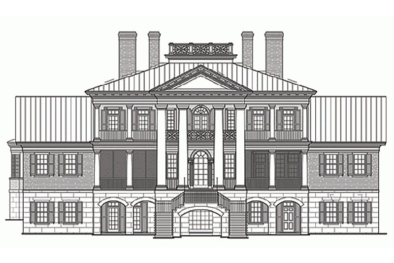 Classical Exterior - Rear Elevation Plan #137-211 - Houseplans.com