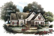 Traditional Style House Plan - 4 Beds 3.5 Baths 3175 Sq/Ft Plan #429-27 Exterior - Front Elevation