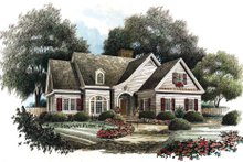 Dream House Plan - Traditional Exterior - Front Elevation Plan #429-27