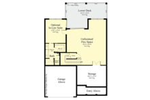 Country Floor Plan - Lower Floor Plan Plan #930-495