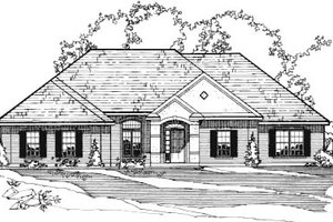 Home Plan - European Exterior - Front Elevation Plan #31-124