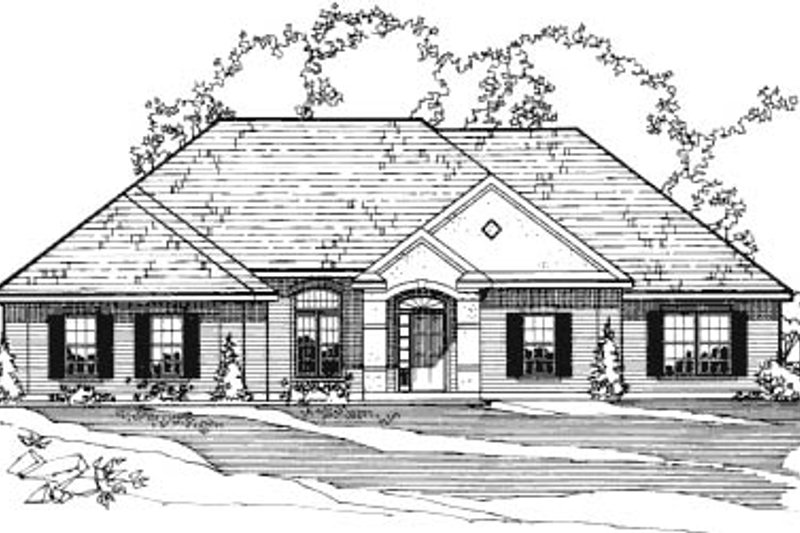 European Exterior - Front Elevation Plan #31-124